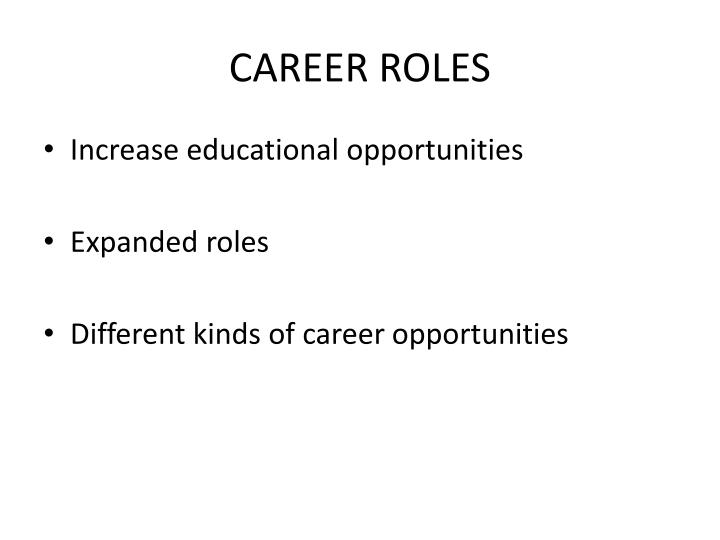 CAREER ROLES