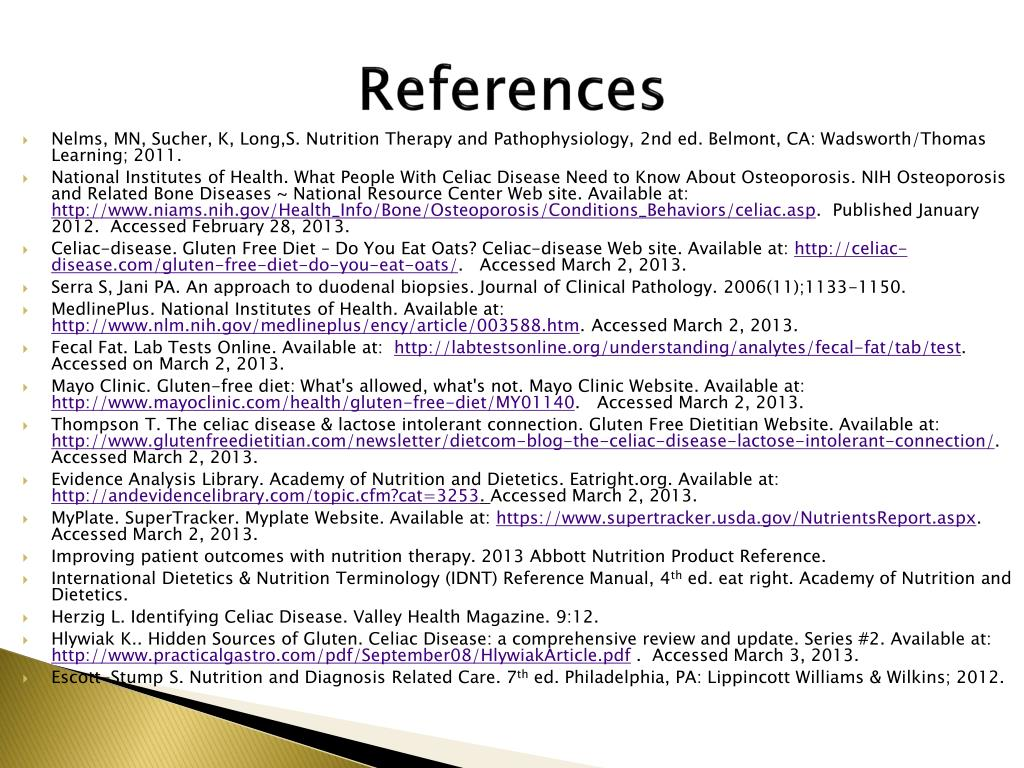 PPT - Case Study #9: Celiac Disease PowerPoint ...