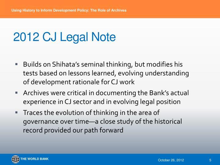 2012 CJ Legal Note