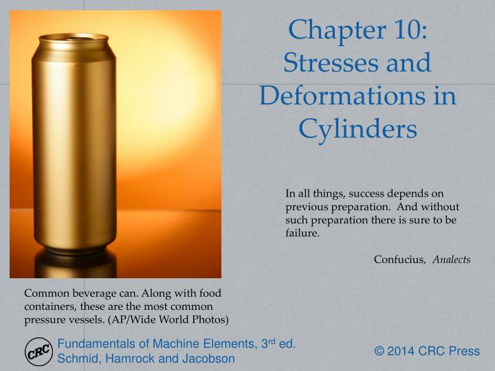 chapter 10 stresses and deformations in cylinders n.