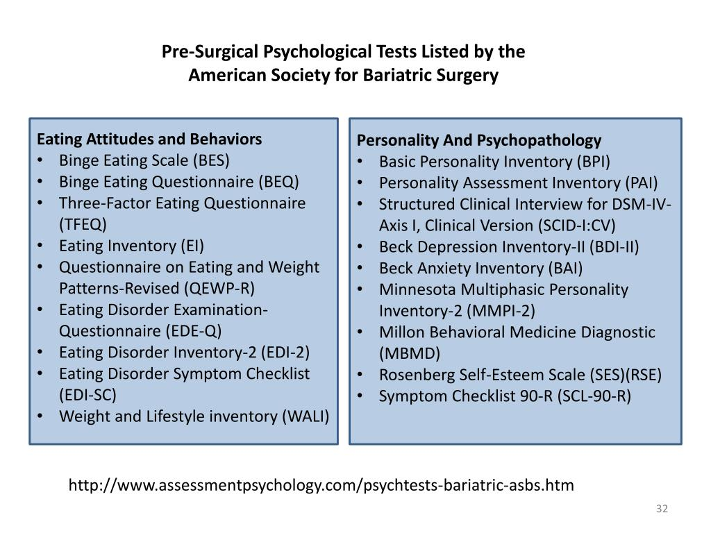 PPT - Psychological Evaluation for Bariatric Surgery David X