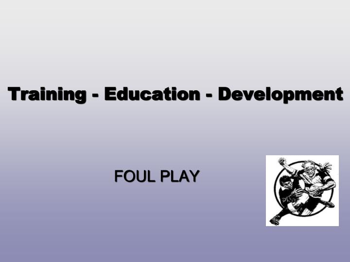 training education development n.