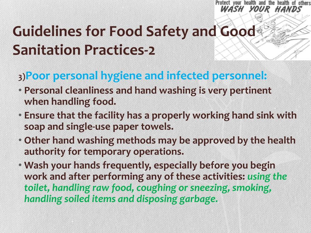 PPT - Food Sanitation and Related Regulations PowerPoint