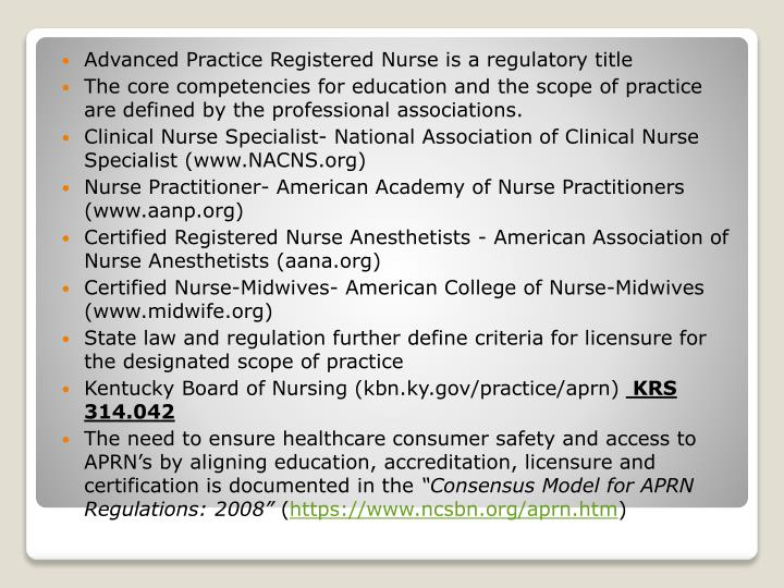 the consensus model vs the new jersey board of nursing essay The consensus model further specifies that in order to be recognized to practice (meet licensure requirements), nps and other apns must have completed an accredited graduate np program and completed a certification program meeting recognized standards, indicated by accreditation by the american board of nursing specialties or the national.