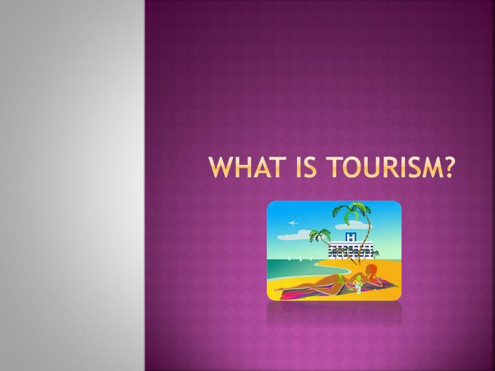 what is tourism n.