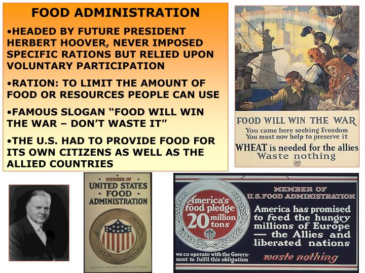FOOD ADMINISTRATION