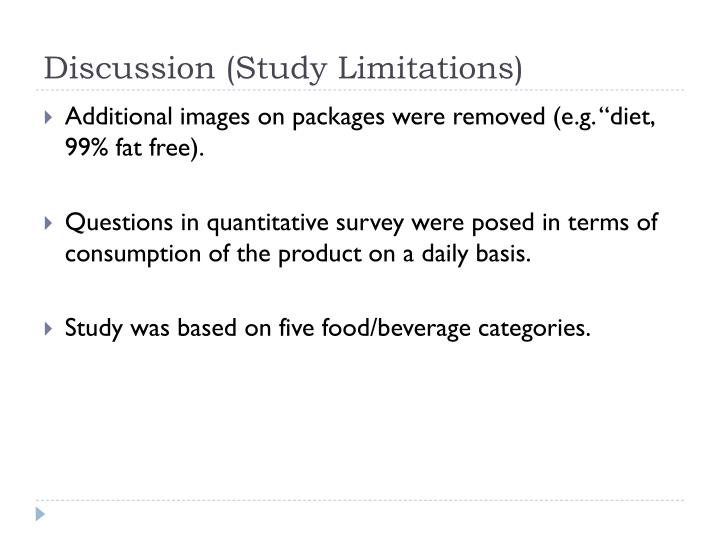 Discussion (Study Limitations)