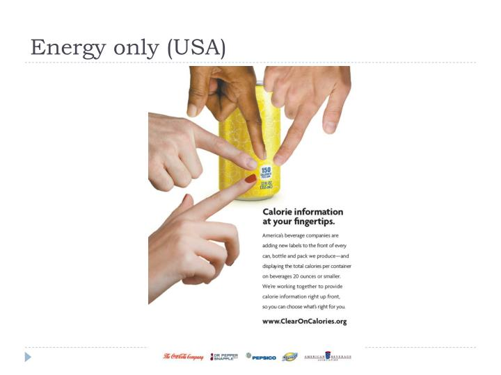 Energy only (USA)