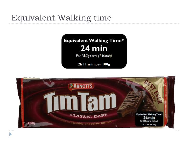 Equivalent Walking time
