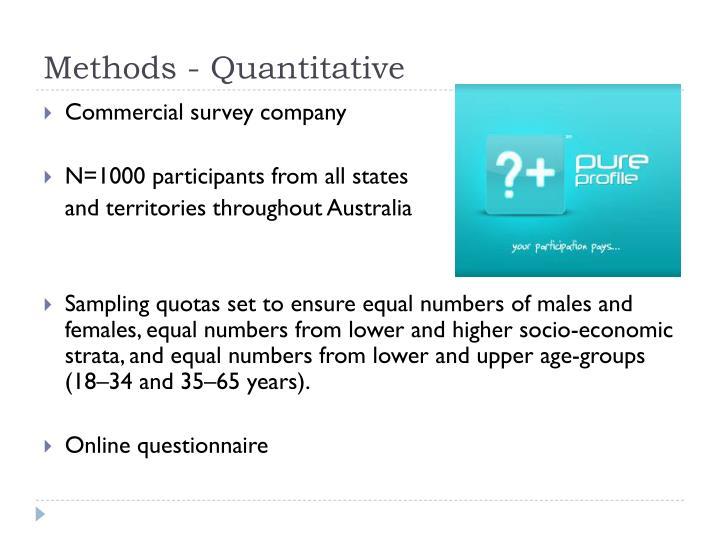 Methods - Quantitative