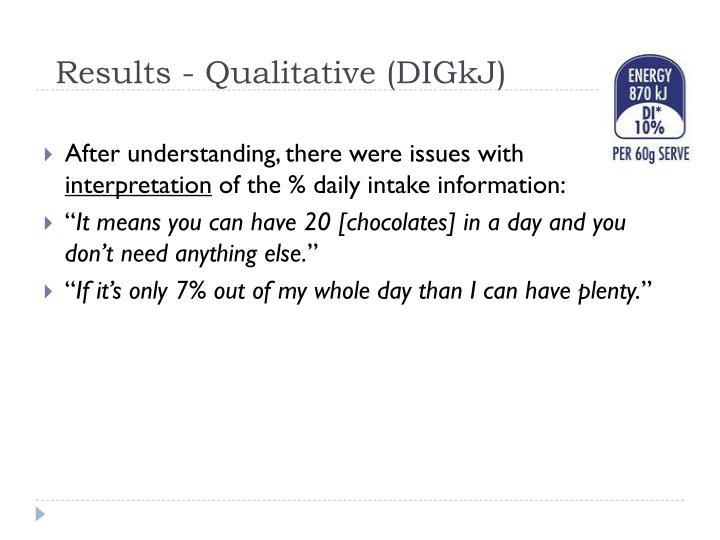 Results - Qualitative (