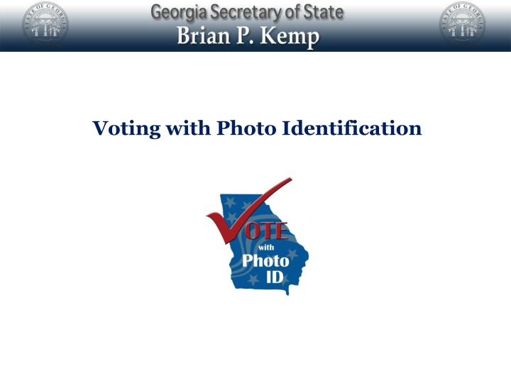 voting with photo identification n.