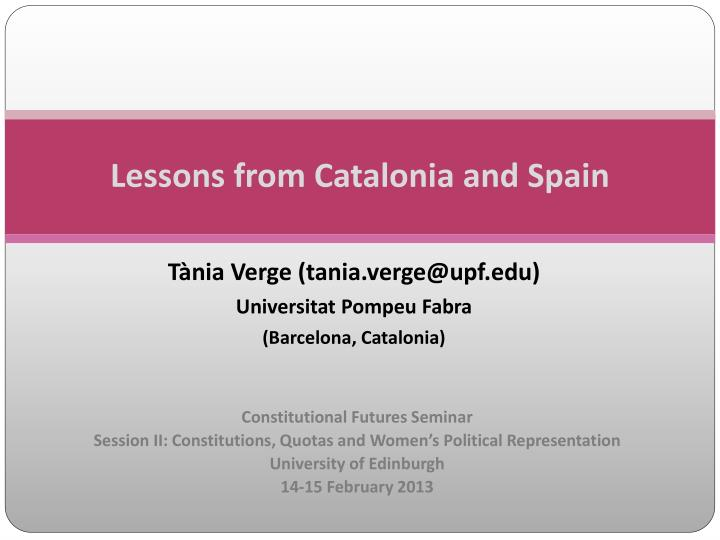 lessons from catalonia and spain n.
