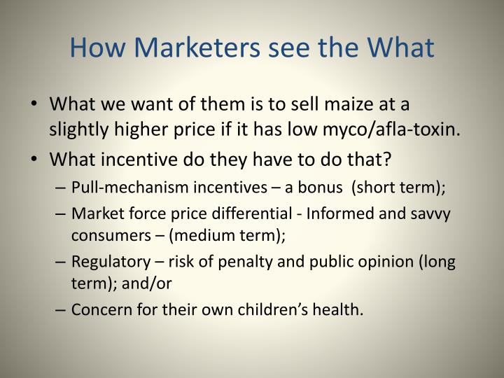 How Marketers see the What