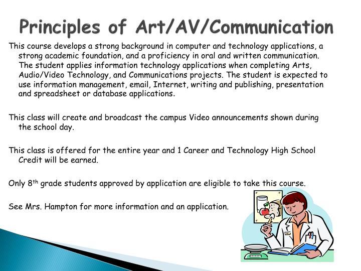 Principles of Art/AV/Communication