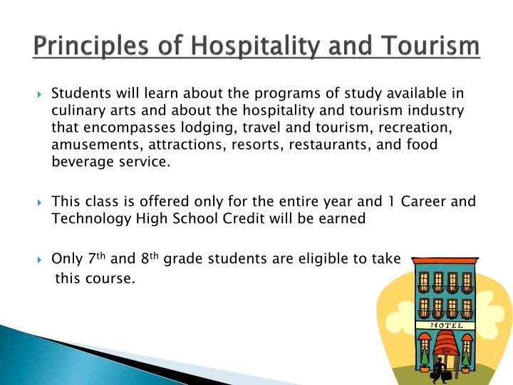 Principles of Hospitality and Tourism