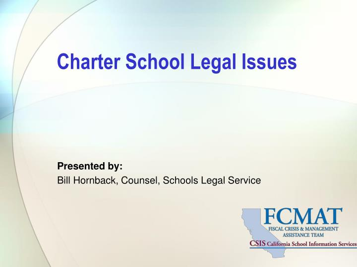 charter school legal issues n.