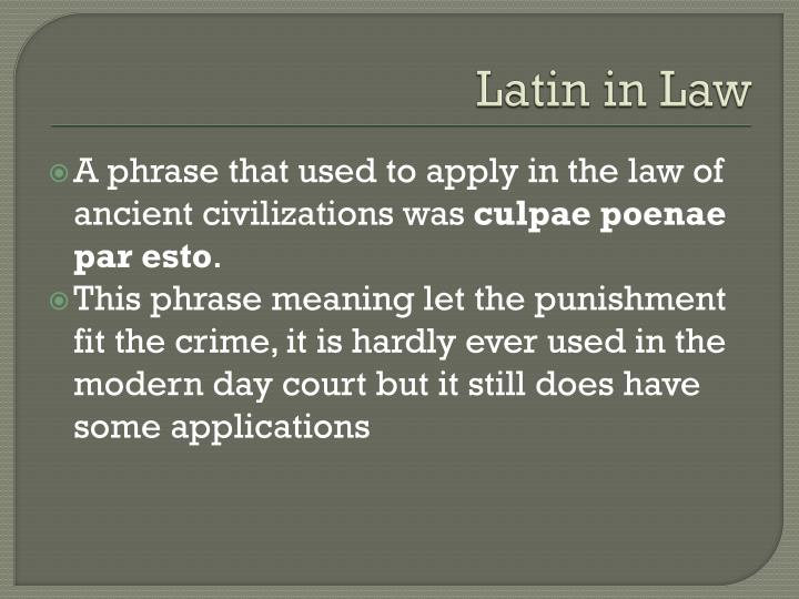 Latin in Law