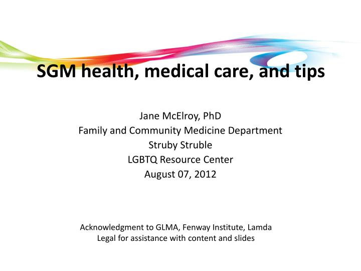 sgm health medical care and tips n.