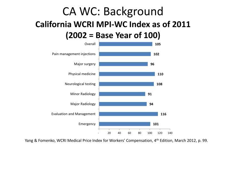CA WC: Background