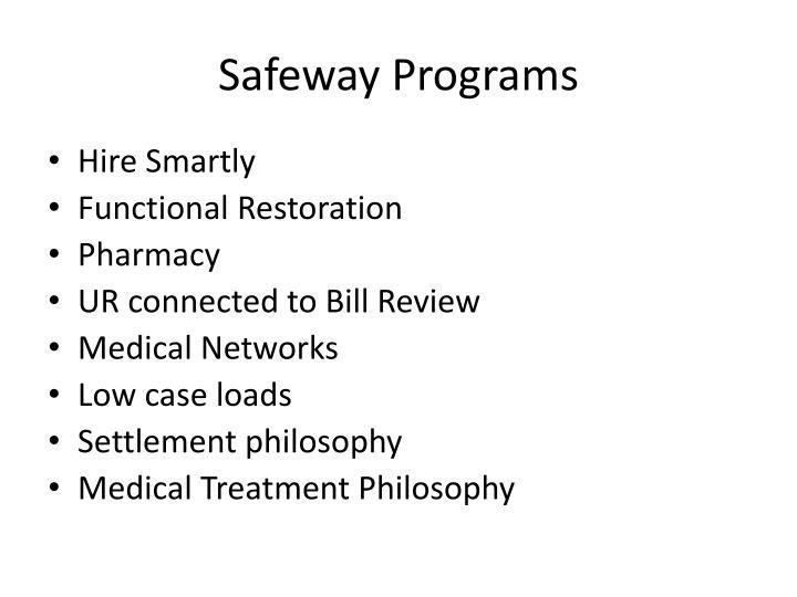 Safeway Programs