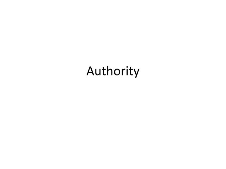 authority n.