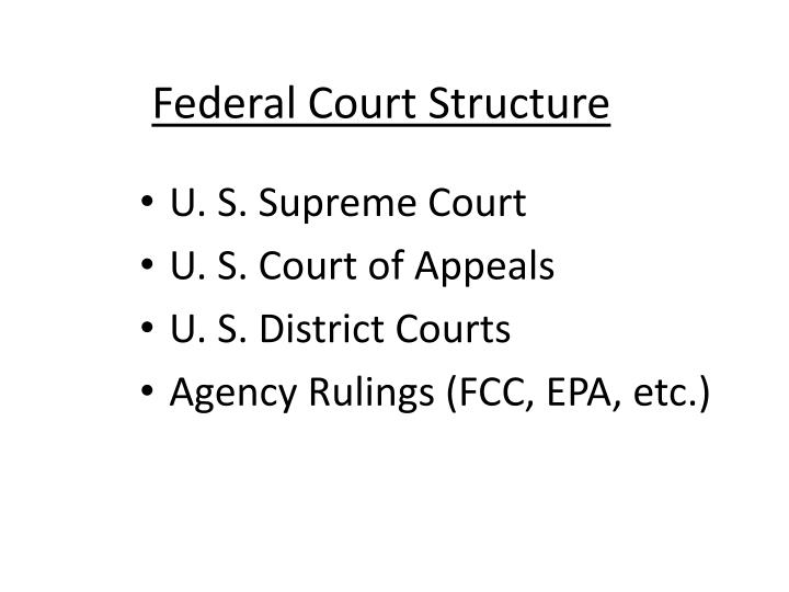 federal court structure n.