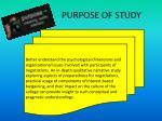 purpose of study1