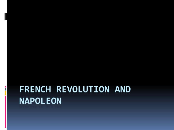 french revolution and napoleon n.