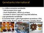 genebanks international
