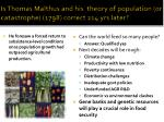 i s thomas malthus and his theory of population or catastrophe 1798 correct 214 yrs later