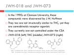 jwh 018 and jwh 073