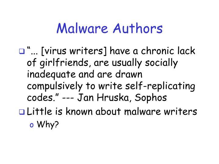 Malware authors