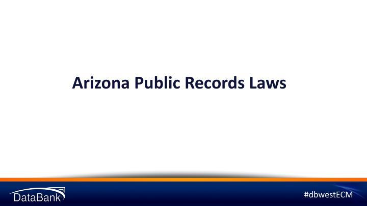 Arizona Public Records Laws