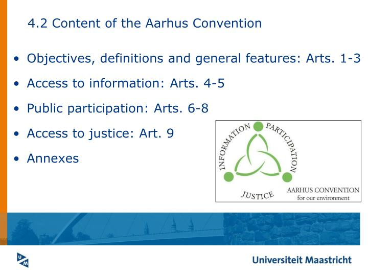 4.2 Content of the Aarhus Convention