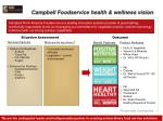 campbell foodservice health wellness vision