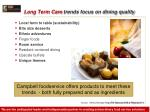 long term care trends focus on dining quality