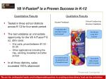 v8 v fusion is a proven success in k 12