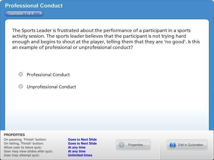 Professional Conduct
