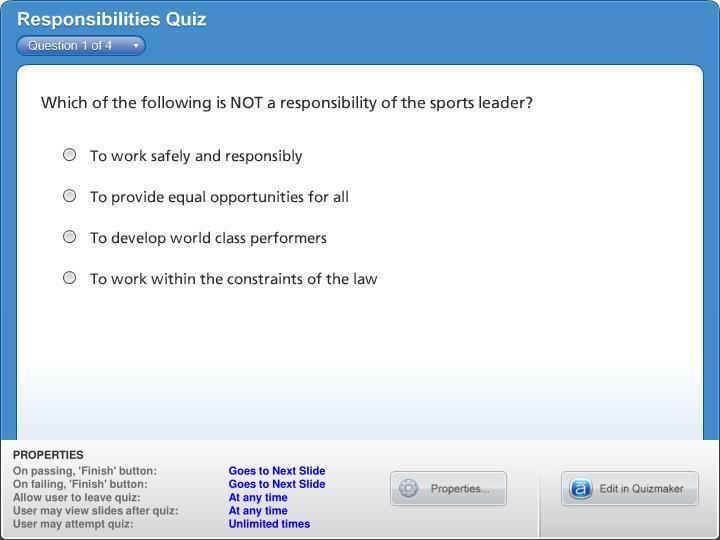 Responsibilities Quiz