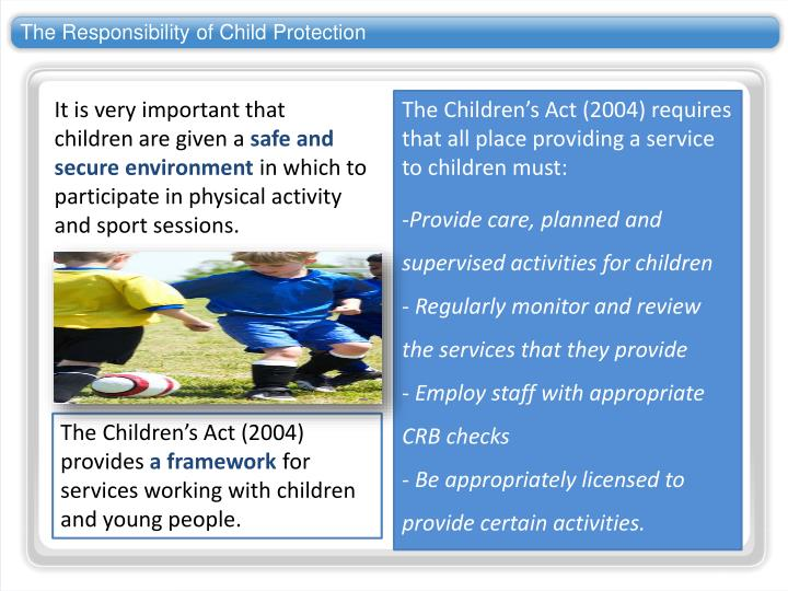 The Responsibility of Child Protection
