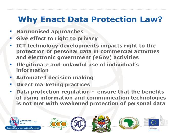 Why enact data protection law