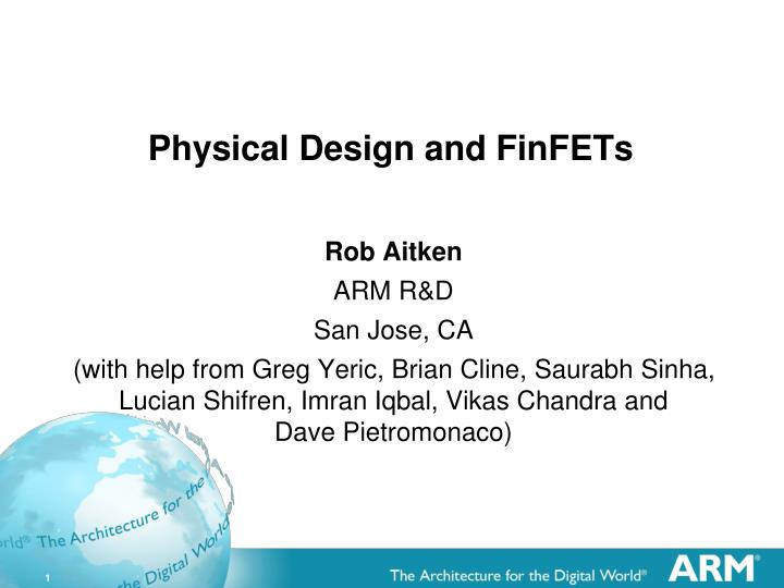 physical design and finfets n.