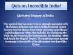 quiz on incredible india