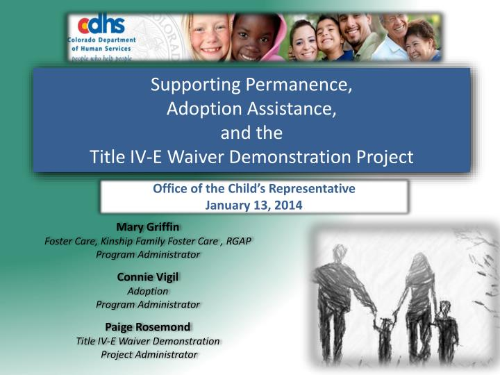 supporting permanence adoption assistance and the title iv e waiver demonstration project n.