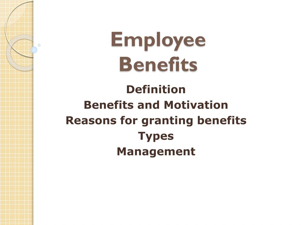 ppt - employee benefits powerpoint presentation - id:1603415