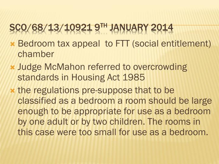 Bedroom tax appeal  to FTT