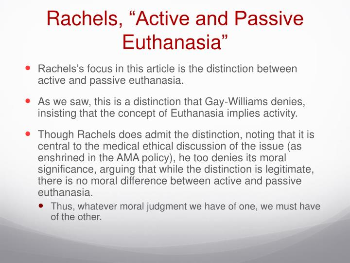 difference between active and passive euthanasia