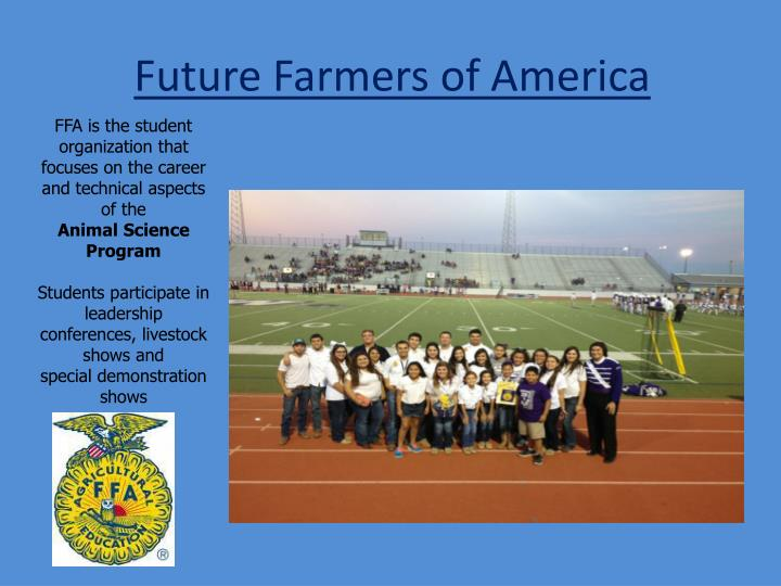 future farmers of america association essay Future farmers of america kipling august 14, 2016 explore 235 unique agricultural careers in the charity of america mississippi ffa association replace future.