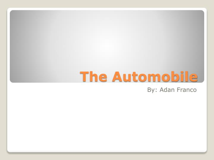 the automobile n.
